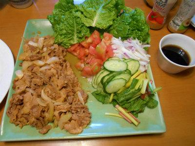 5.9プルコギ風と野菜盛り
