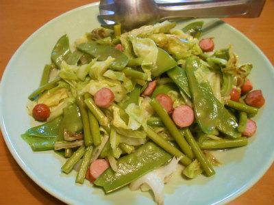 5.10初夏色の野菜炒め