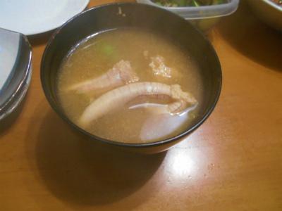5.12トビウオの荒で取ったダシの味噌汁