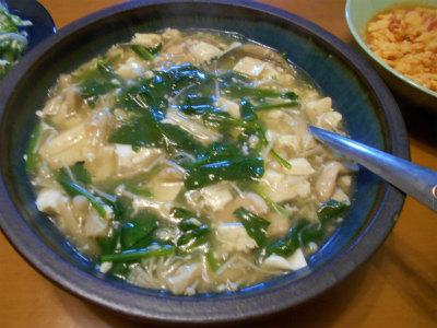 5.23豆腐とホウレン草の旨煮