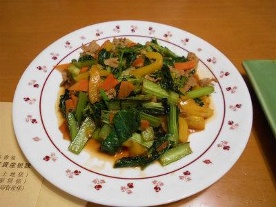 5.31小松菜等野菜炒め