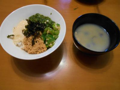 6.6ネバネバご飯の朝食
