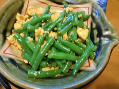 6.21インゲンの麺つゆ和え