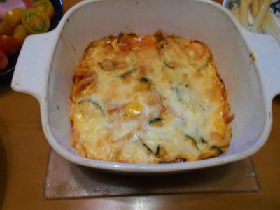 7.7ズッキーニとキムチのチーズ焼き