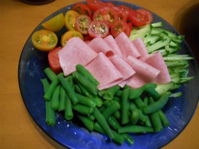 7.7自家野菜サラダ