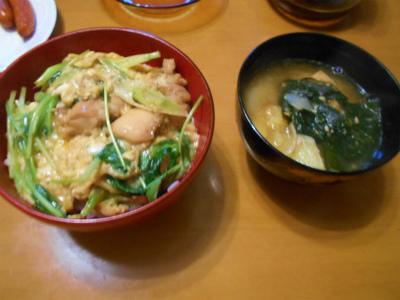 9.9親子丼と味噌汁