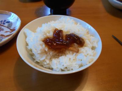 9.15煮凝りのせご飯