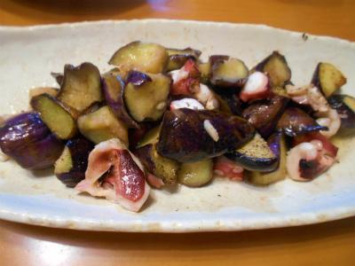 9.22タコと茄子の炒め物