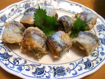 9.22秋刀魚の梅紫蘇揚げ