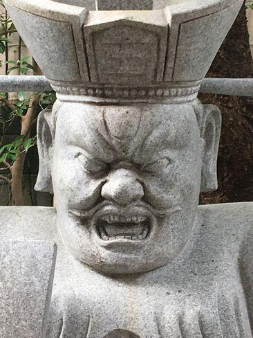 因幡薬師・閻魔の石像_H29.11.04撮影