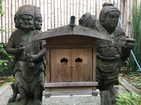 因幡薬師・二体の石仏_H29.11.04撮影