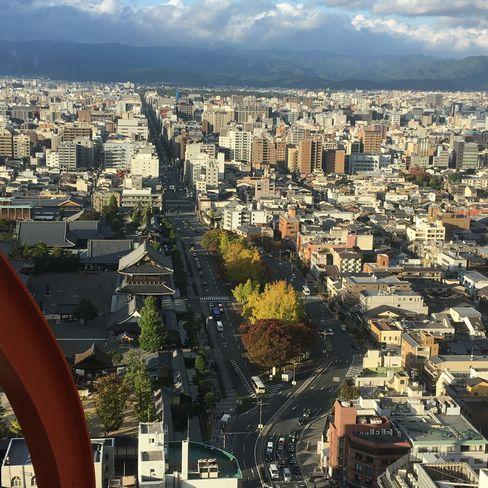 京都タワー展望台から烏丸通り_H29.11.04撮影