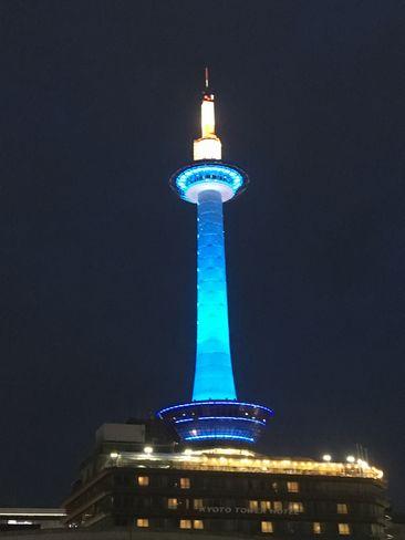 青い京都タワー_H30.06.14撮影