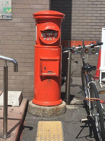 京都中央郵便局角のポスト H30.6.16