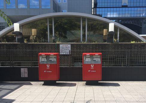 京都駅前広場のポスト_H30.6.16撮影
