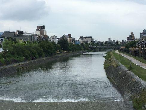三条大橋から鴨川下流_H30.06.14撮影