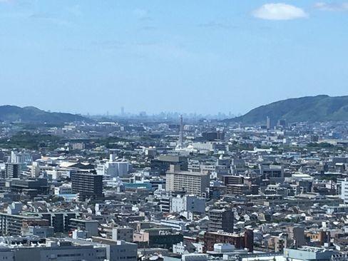京都タワーから大阪市街_H30.06.16撮影