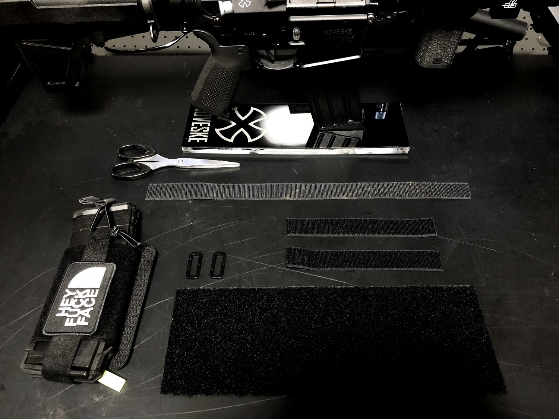 1 DIY ストック マガジン ポーチ 次世代 M4 !! 実物 KAK PISTOL STABILIZER AR-15 M4 & P-MAG 型 リポバッテリーケース & TMC ラップ ホルスター マグポーチ 次世代電動ガン 外付け リポ バッテリー ホルスター 自作