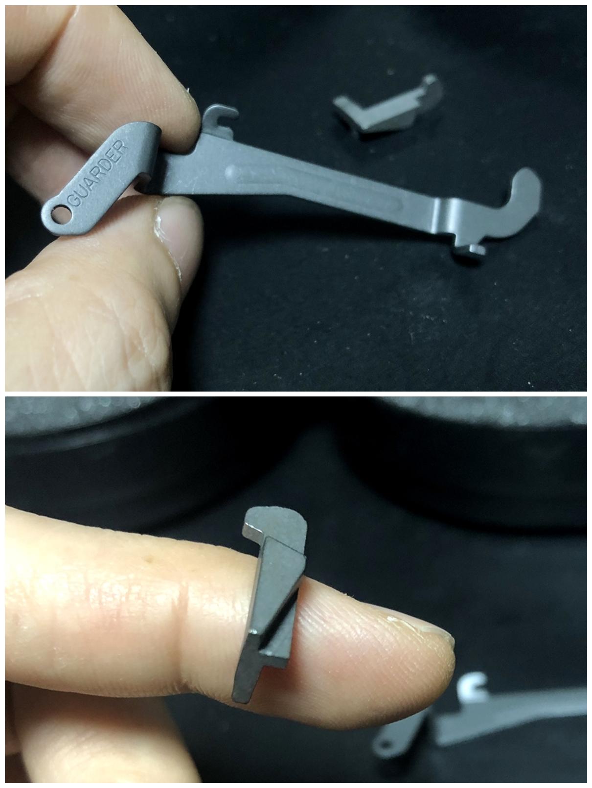 5 GLOCK 18C GBB スライドの動作不良を修理するぞ! GUARDER スチール トリガーバー & ガーダー スチール ノッカーロック 購入 分解 取付 修理 加工