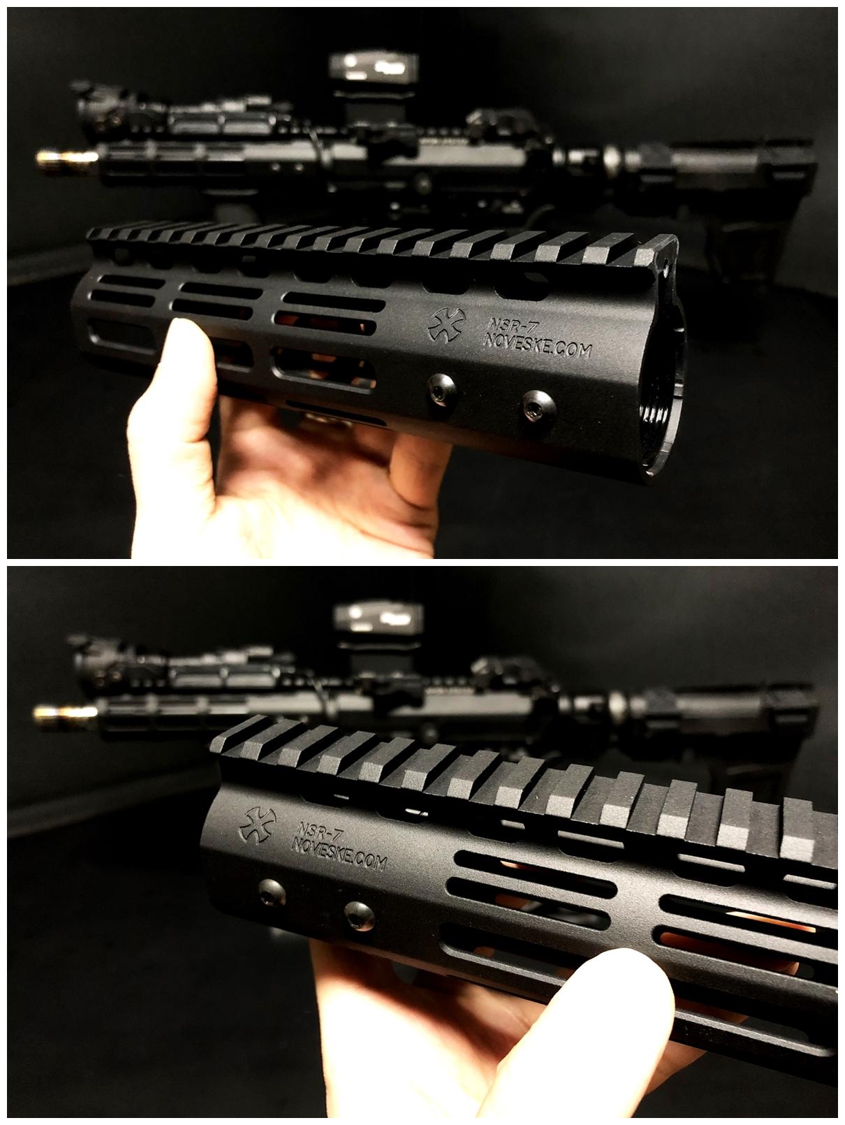 5 『微々たる変化』と『微々たる進化』 IRON vs 5KU M-LOK NSR NOVESKE TYPE N4 M4 AR15 ハンドガード 購入 分解 交換 検証 取付 レビュー