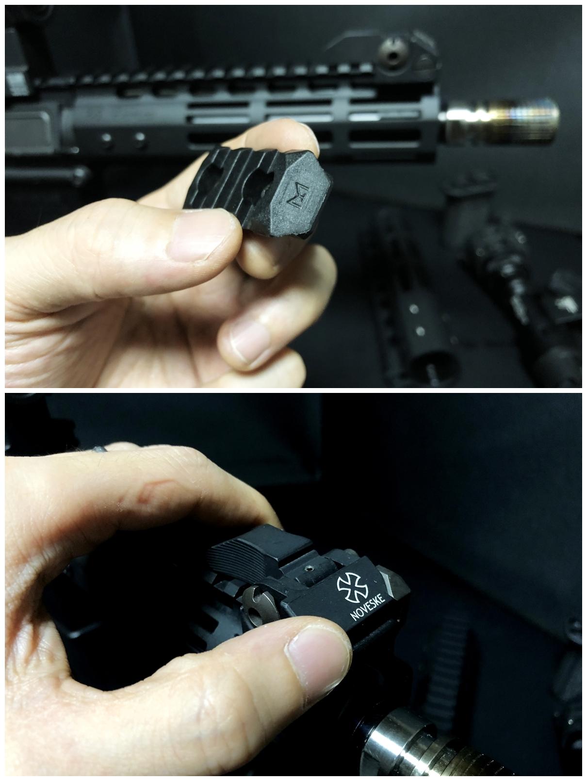 11 『微々たる変化』と『微々たる進化』 IRON vs 5KU M-LOK NSR NOVESKE TYPE N4 M4 AR15 ハンドガード 購入 分解 交換 検証 取付 レビュー
