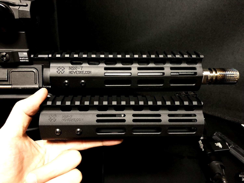 13 『微々たる変化』と『微々たる進化』 IRON vs 5KU M-LOK NSR NOVESKE TYPE N4 M4 AR15 ハンドガード 購入 分解 交換 検証 取付 レビュー