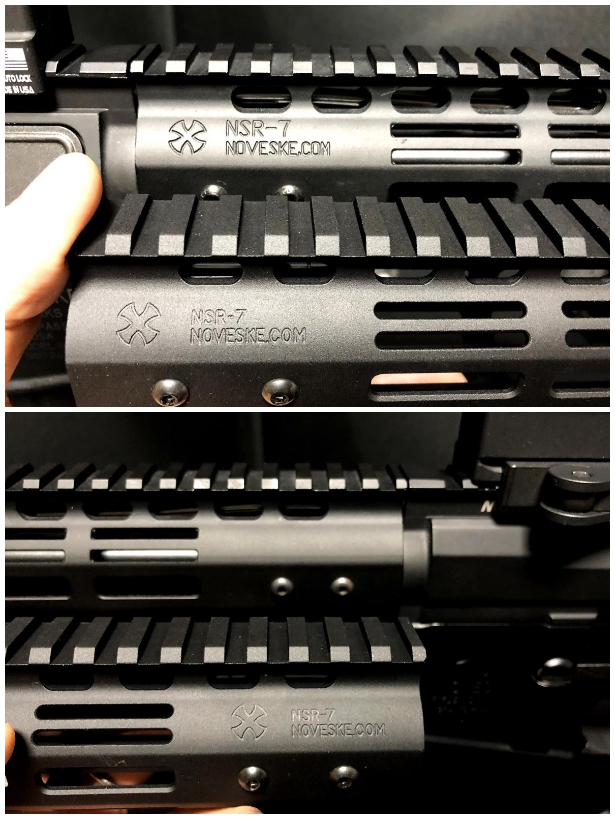 14 『微々たる変化』と『微々たる進化』 IRON vs 5KU M-LOK NSR NOVESKE TYPE N4 M4 AR15 ハンドガード 購入 分解 交換 検証 取付 レビュー