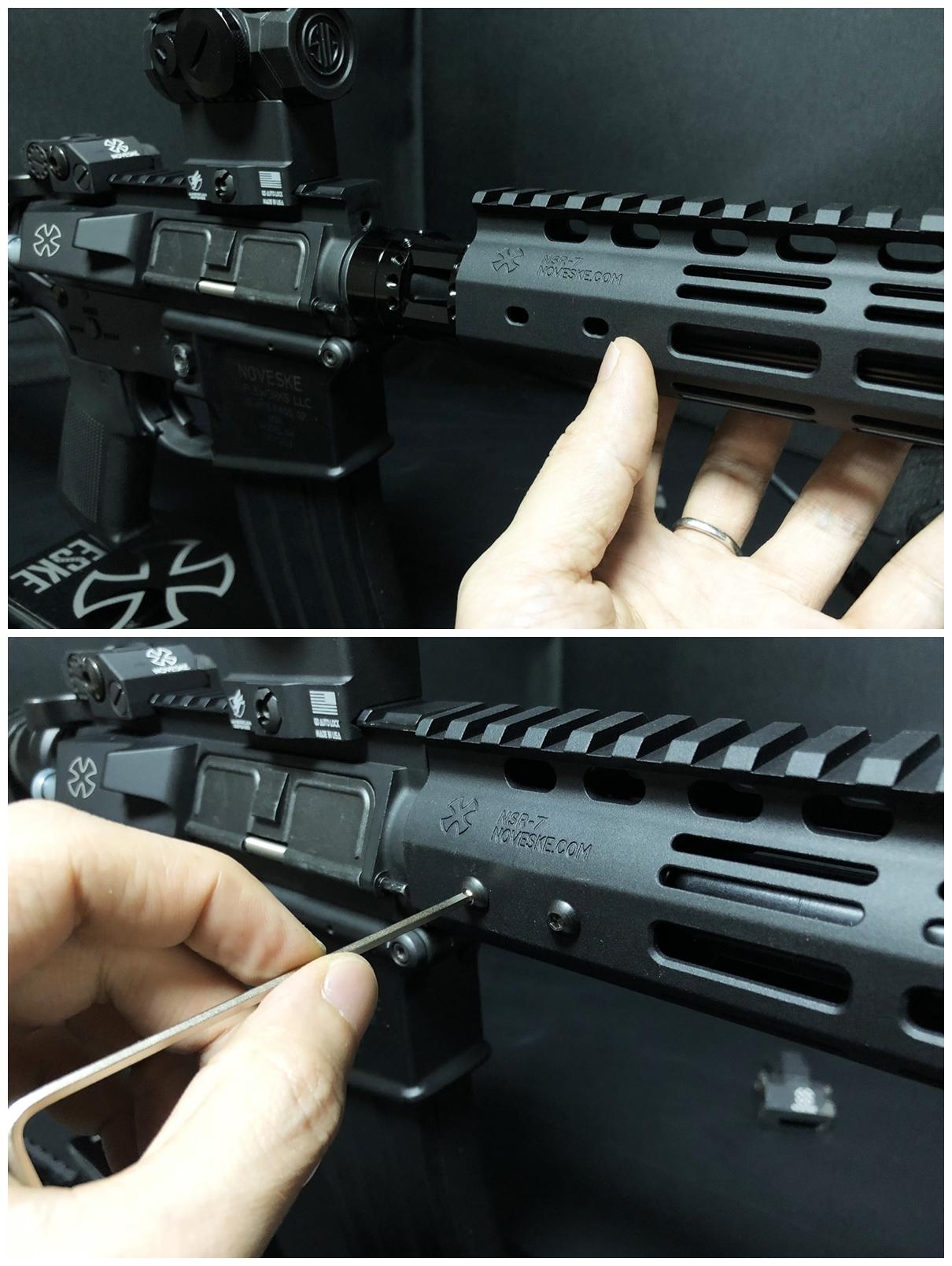 26 『微々たる変化』と『微々たる進化』 IRON vs 5KU M-LOK NSR NOVESKE TYPE N4 M4 AR15 ハンドガード 購入 分解 交換 検証 取付 レビュー