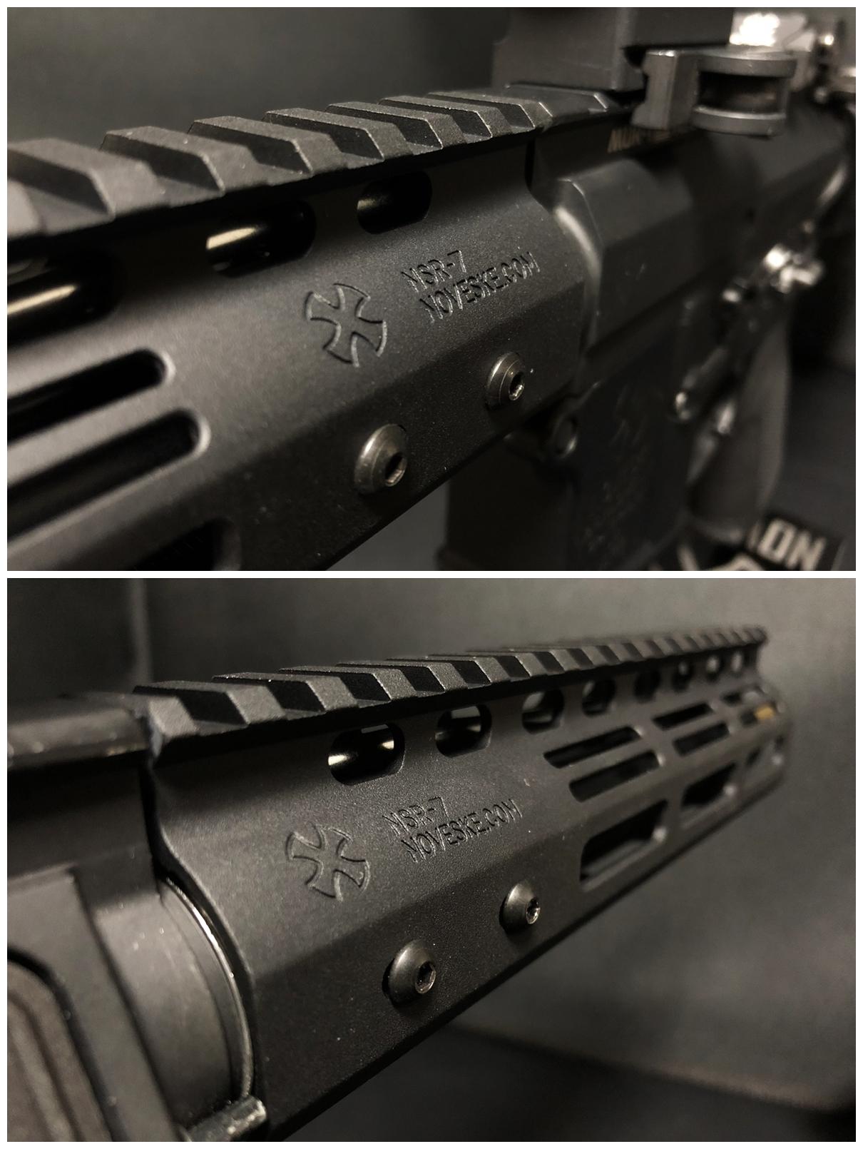 30 『微々たる変化』と『微々たる進化』 IRON vs 5KU M-LOK NSR NOVESKE TYPE N4 M4 AR15 ハンドガード 購入 分解 交換 検証 取付 レビュー