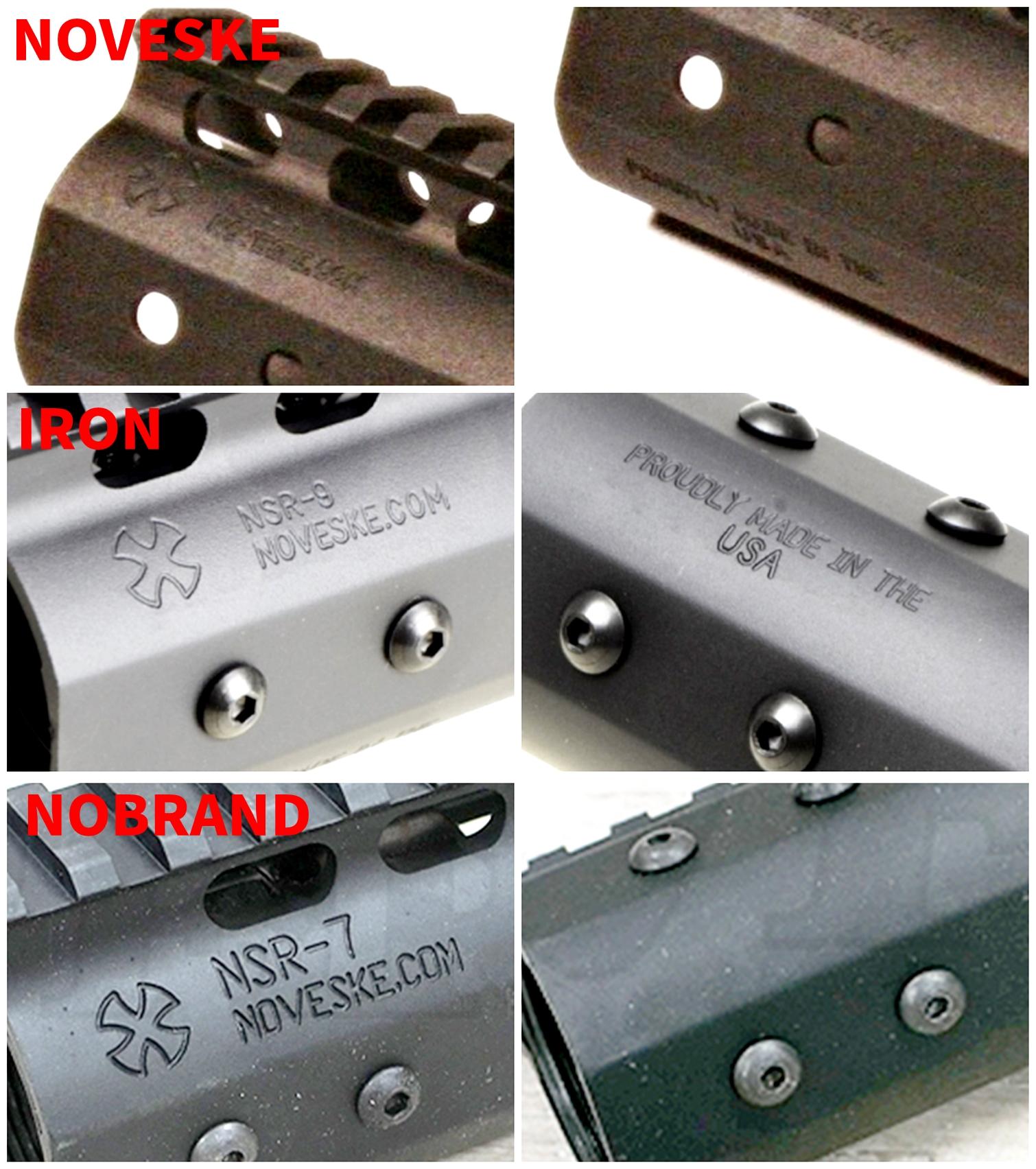 35 『微々たる変化』と『微々たる進化』 IRON vs 5KU M-LOK NSR NOVESKE TYPE N4 M4 AR15 ハンドガード 購入 分解 交換 検証 取付 レビュー