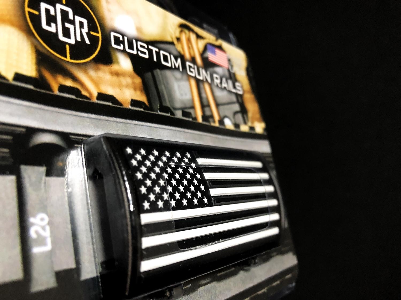 3 実物 CUSTOM GUN RAILS RAIL COVER !! PVC AMERICAN FLAG !! CUSTOM AR 15 次世代 M4 CQB-R NOVESKE N4 レイルカバー 購入 開封 取付 レビュー