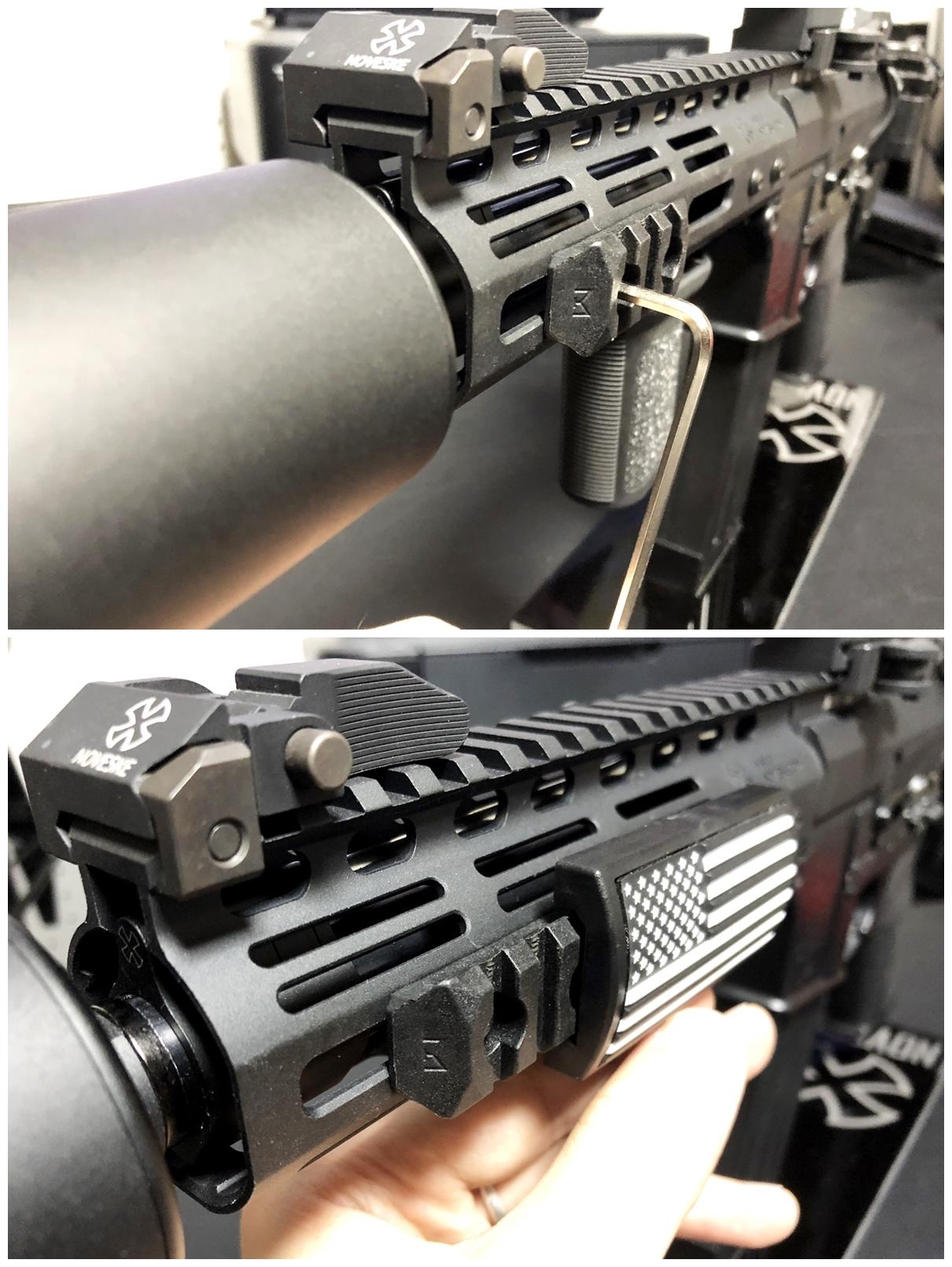 6 実物 CUSTOM GUN RAILS RAIL COVER !! PVC AMERICAN FLAG !! CUSTOM AR 15 次世代 M4 CQB-R NOVESKE N4 レイルカバー 購入 開封 取付 レビュー