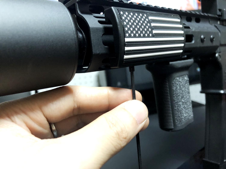 7 実物 CUSTOM GUN RAILS RAIL COVER !! PVC AMERICAN FLAG !! CUSTOM AR 15 次世代 M4 CQB-R NOVESKE N4 レイルカバー 購入 開封 取付 レビュー