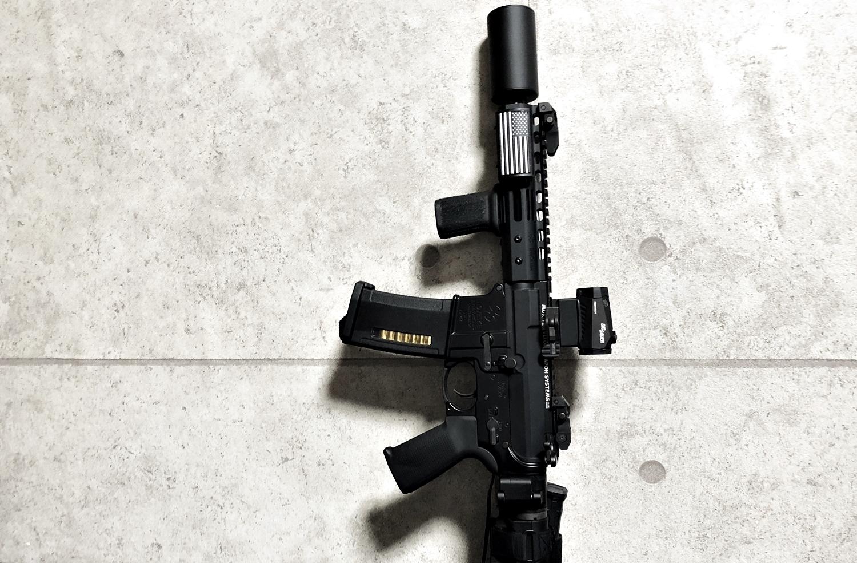 9 実物 CUSTOM GUN RAILS RAIL COVER !! PVC AMERICAN FLAG !! CUSTOM AR 15 次世代 M4 CQB-R NOVESKE N4 レイルカバー 購入 開封 取付 レビュー