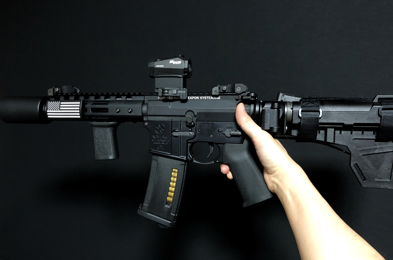 13 実物 CUSTOM GUN RAILS RAIL COVER !! PVC AMERICAN FLAG !! CUSTOM AR 15 次世代 M4 CQB-R NOVESKE N4 レイルカバー 購入 開封 取付 レビュー