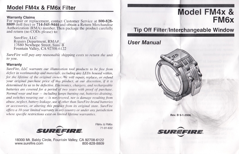 12 SUREFIRE FM47 OPAQUE FILTER FM4X 1 37 BEZEL VAMPIRE M952V M900V IR シュアファイアー カバーフィルター ウェポンライト 検証 取付 レビュー!!