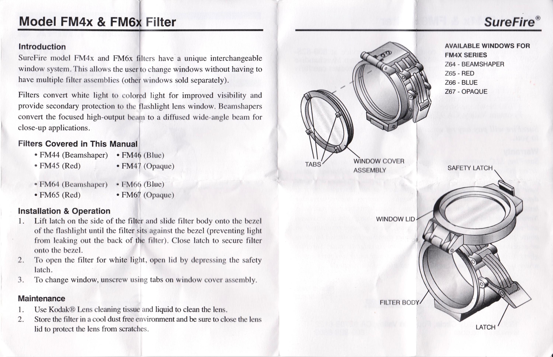 実物 SUREFIRE FM46 BLUE FILTER FM4X 1-37 BEZEL VAMPIRE M952V M900V IR