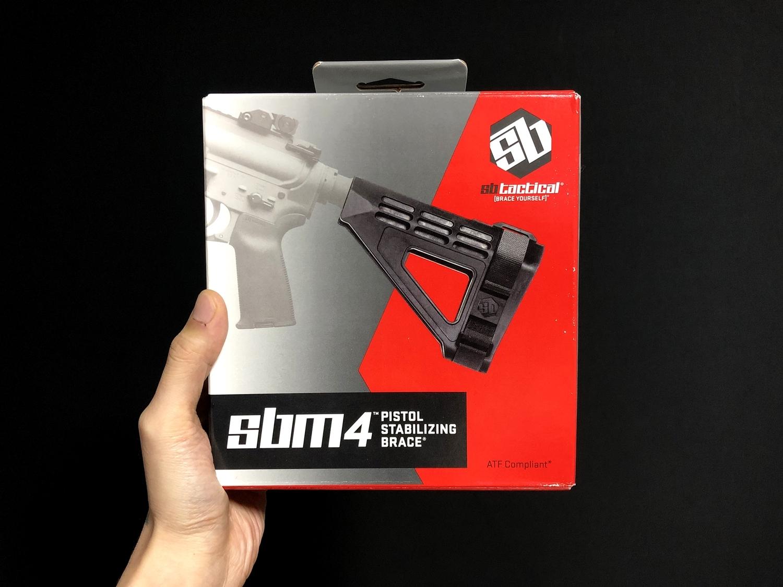 1 実物 SB TACTICAL SBM4 STABILIZING BRACE BLACK + STDTUBE AR PISTOL STD BUFFER TUBE ストック 購入 取付 比較 レビュー!! 次世代M4 CQB-R へ取付けてやるの巻!!