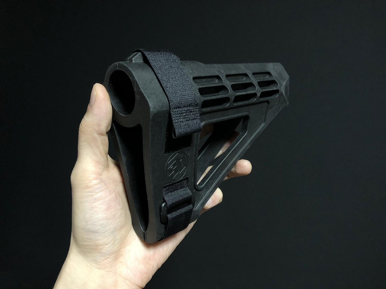 7 実物 SB TACTICAL SBM4 STABILIZING BRACE BLACK + STDTUBE AR PISTOL STD BUFFER TUBE ストック 購入 取付 比較 レビュー!! 次世代M4 CQB-R へ取付けてやるの巻!!