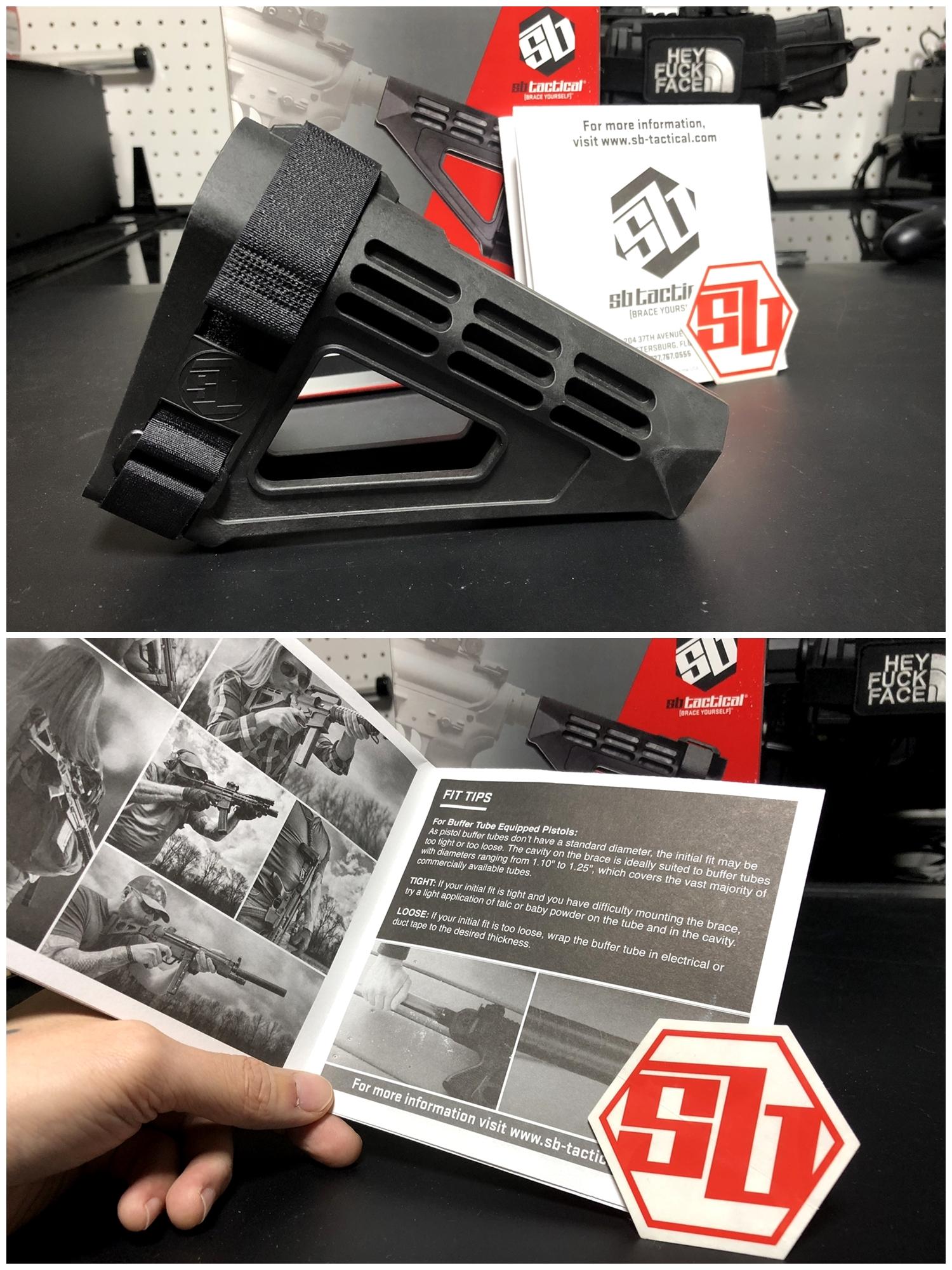 11 実物 SB TACTICAL SBM4 STABILIZING BRACE BLACK + STDTUBE AR PISTOL STD BUFFER TUBE ストック 購入 取付 比較 レビュー!! 次世代M4 CQB-R へ取付けてやるの巻!!