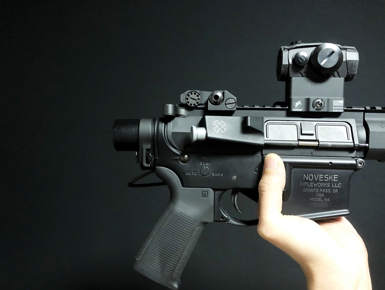 5 ARフォールディング バネカバー 次世代 M4 CQB-R AR-15 PISTOLCAL SB TACTICAL SBM4 CUSTOM!! 実物ストック 折りたたみ リコイルオミット 大作戦 Vol2 仕様 カスタム 加工 取付 結果 レビュー!!