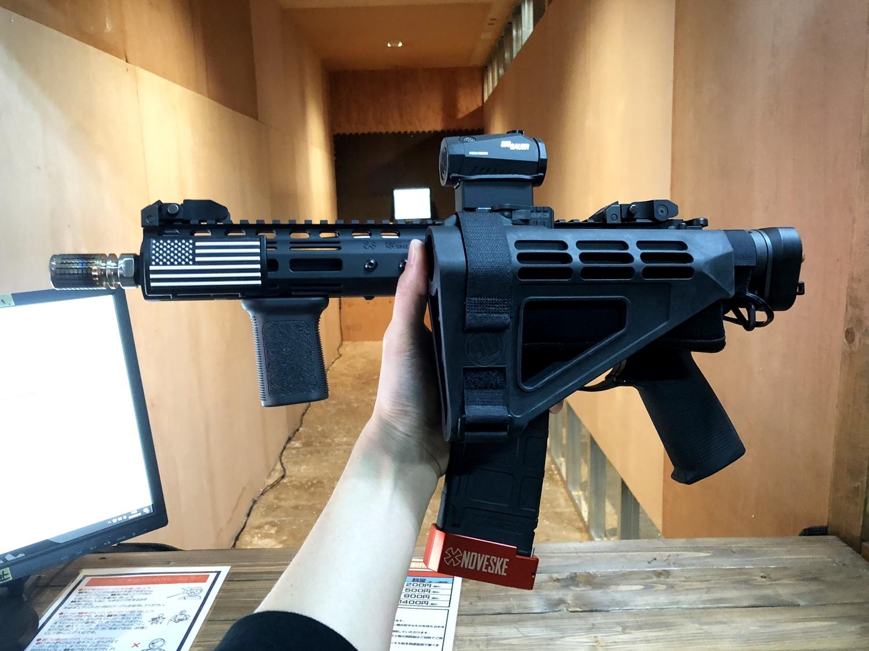 1 CROWS NEST クロウズネスト シューティングレンジ 次世代 M4 CQB-R AR-15 PISTOL SB TACTICAL SBM4 CUSTOM!! 実物ストック 折りたたみ リコイルオミット 大作戦 Vol2 仕様 カスタム 加工 取付 結果 レビュー!!