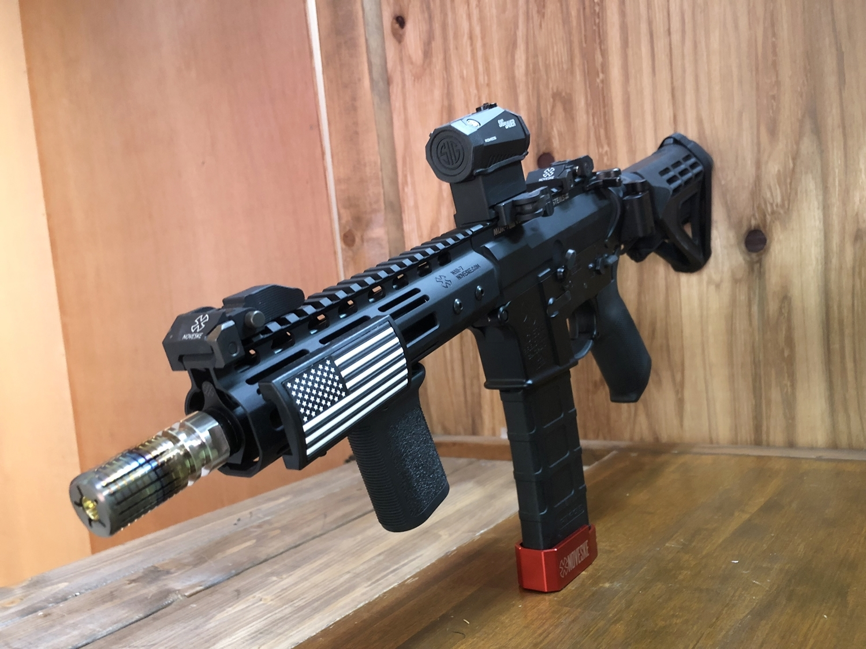 2 CROWS NEST クロウズネスト シューティングレンジ 次世代 M4 CQB-R AR-15 PISTOL SB TACTICAL SBM4 CUSTOM!! 実物ストック 折りたたみ リコイルオミット 大作戦 Vol2 仕様 カスタム 加工 取付 結果 レビュー!!