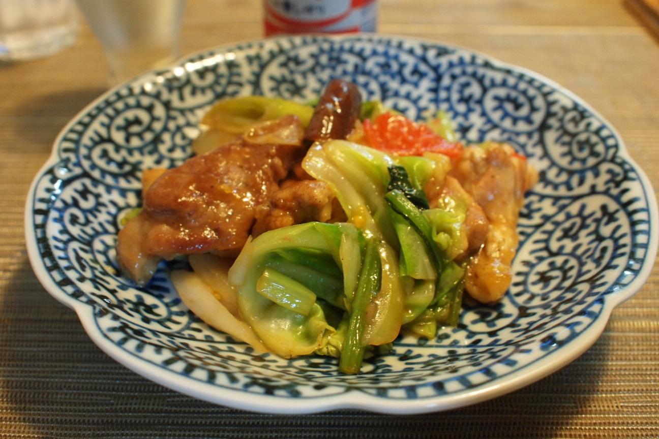 野菜と豚肉の黒酢炒め!