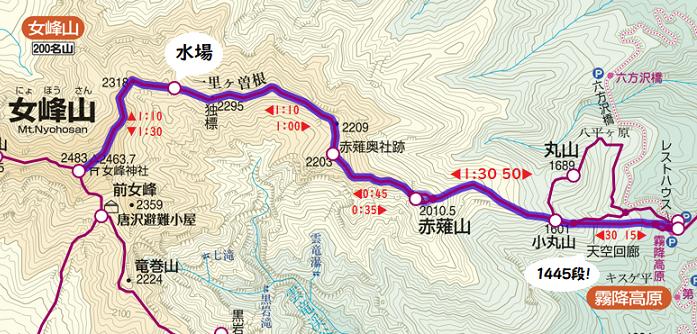 女峰山地図