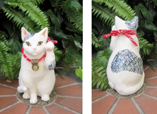 呉須模様の招き猫