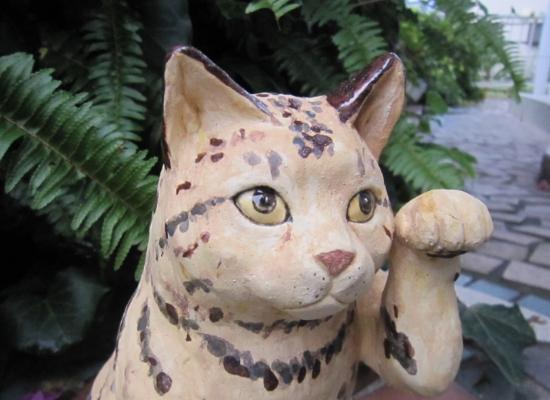 菜々招き猫1#ネコ #猫 #陶器 #陶猫芸家#招き猫 #猫作家 #cat #pottery #art #japaneseart #可愛い猫.
