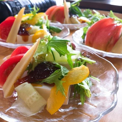 2018-07-12-豆腐サラダ柚子ジュレ