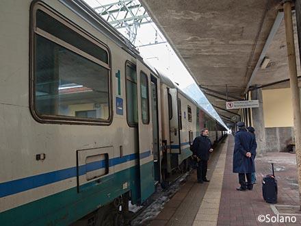 ブレンナー駅に停車した国際特急・EC85