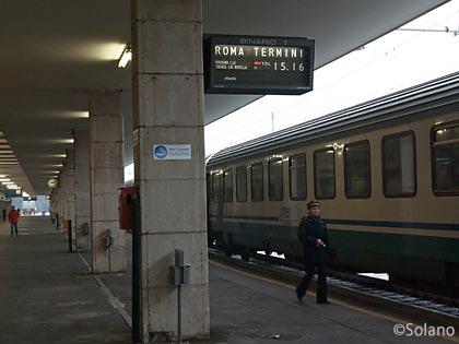 ミュンヘンからの特急EC、終点のローマへの旅ままだ続く